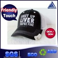 Buy cheap Silver Bullet Mesh Trucker Hats For Opening The Bottle Cover Embroidering 3D Logo from wholesalers