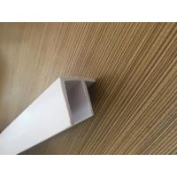 Buy cheap Grain PVC Extrusion Profiles Glossy Surface Finish Low Maintenance from wholesalers