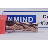 Buy cheap 8mm HRC55  SiN TiAlN Coating , Square End Mill , WF25 Rod , Precsion cutting tools , Standard Length from wholesalers