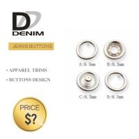 Buy cheap Short Denim Jacket Prong Snap Buttons For Women 4 - Parts Gunmetal DULL Silver product