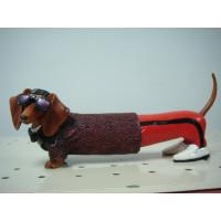 Buy cheap Cool Glasses Dachshund Polyester Epoxy Resin Crafts Sculpture Artists for Home Decor from wholesalers