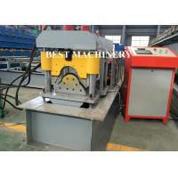 Buy cheap Ridge Cap Roof Tile Roll Forming Machine / Metal Roof Profile Camber from wholesalers