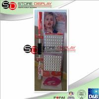 Buy cheap Modern Corrugated Cardboard Floor Display , Lip Gloss Multideck Point Of Purchase Display from wholesalers