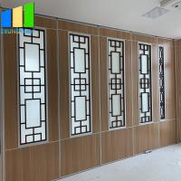 Buy cheap Movable Wooden Partition Room Divider Sliding Office Partition System For Space from wholesalers