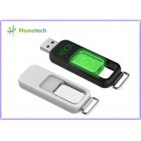 Buy cheap Push USB flash drive with acrylic 3D Laser inside, Non cap type, Light-up when connect to computer, with unique keyring product