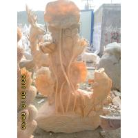 Buy cheap Garden Decorative Lotus And Fish Stone Ornament from wholesalers