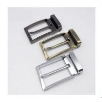 Buy cheap Smooth Metal Reversible Belt Buckle / Zinc Alloy Belt Pin Buckle Replacement from wholesalers