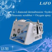 Buy cheap 4 IN 1 diamond & Hydra facial dermabrasion & Oxygen spray &Ultrasonic skin scrubber from wholesalers