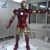 Buy cheap Action Figure Life Size Fiberglass Statue Iron Man for Sale from wholesalers