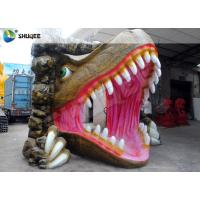 Buy cheap Vivid Dinosaur 5D Movie Theater With Red Luxury Chairs , Genuine Leather Fiberglass product
