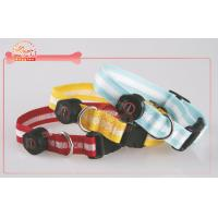 Buy cheap Breed Dog LED Pet Collar with Reflective Strip Nylon Coin cell Battery from wholesalers