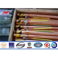Buy cheap UL Listed Underground Copper Ground Rod 0.25/0.3mm Cooper Thickness from wholesalers