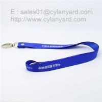 Buy cheap Rivet polyester lanyard with metal clasp hook custom made from wholesalers