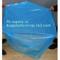 Buy cheap sealable square bottom pallet shrink wrap plastic cover for bags, jumbo black lightproof and waterproof plastic pallet c from wholesalers