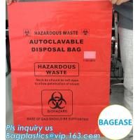 Buy cheap Customized color biohazard medical waste drawstring bag drawtape bag, biohazard medical waste bags for clinical waste,ye from wholesalers