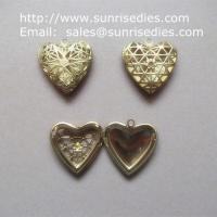 Buy cheap Filigree copper heart photo lockets wholesale, fillagree brass heart locket from wholesalers