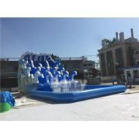 Buy cheap Outdoor Wave Inflatable Water Pool Slip N Slide / Water Sport Games PVC Tarpaulin Material from wholesalers