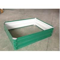 Buy cheap 600x600cm Zinc / Colorbone Steel Raised Garden Beds / Garden Boxes For Flowers from wholesalers