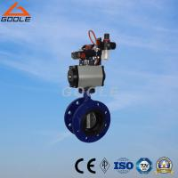Buy cheap Pneumatic Soft Seal Flanged Butterfly Valve (GAD641X) from wholesalers