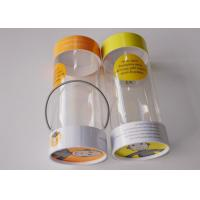 Buy cheap Small Clear Plastic Presentation Box , Personalised Clear Plastic Cups With Lids String Handle Tube Shape from wholesalers