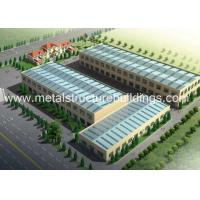 Buy cheap Sandwich Panel Prefab Steel Structure Warehouse / Factory , Steel Structural Systems from wholesalers