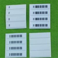 Buy cheap Customized Cloth Anti Theft Labels With Barcode Printing / Retail Security Labels from wholesalers