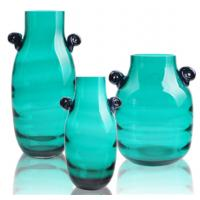 Buy cheap Modern Blue Colored Glass Vase for Restaurant / Home Decoration from wholesalers