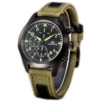 Buy cheap Fabric Leather Band Watches / Multifunctional Stainless Steel Mens Watches , Large Dial Quartz from wholesalers