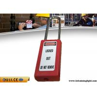 Buy cheap 75 Mm Body Lockout Padlocks, Durable Steel Shackle Xenoy Lockout Locks from wholesalers