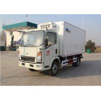 Buy cheap Euro 2 5 Ton Small Freezer Truck , 95km/H Max Speed Refrigerated Van Truck from wholesalers