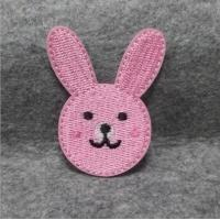 Buy cheap custom baby clothing rabbit design animal cartoon embroidery iron on patch from wholesalers