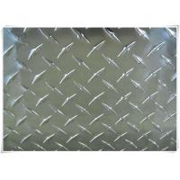 Buy cheap Alloy 5052 H32 Aluminum Tread Plate Silver / Black Color With Checkered Surface from wholesalers