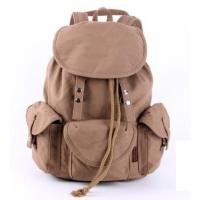 Buy cheap Canvas Multi Pocket laptop Backpack bags 30 - 40L , laptop messenger bag from wholesalers