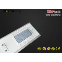 China Residential Areas Smart Solar Street Light 50W IP65 3 Years Warranty on sale