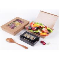 Buy cheap Disposable fruit salad container, take away paper salad box packaging from wholesalers