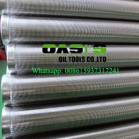 Buy cheap Oasis Factory Supplies Johnson wedge wire screens/water well casing pipe from wholesalers