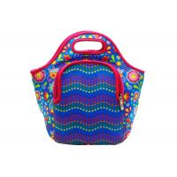 Buy cheap Sublimated 4mm Neoprene Lunch Tote Bag Water Resistant With Front Zipper Pocket product