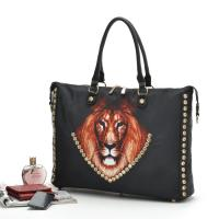 Buy cheap office career lady portable handbags,Unique Nylon printed LEO icon  female casual bags from wholesalers