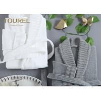 Buy cheap Night Dress Unisex Homewear Fashion Coral Fleece Bathrobe White Or Grey Customized from wholesalers