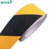 Buy cheap Various sizes yellow black abrasive adhesive anti slip tape stair treads non skid tape waterproof from wholesalers