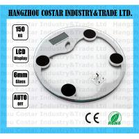 Buy cheap Round shaped glass digital bathroom scale from wholesalers