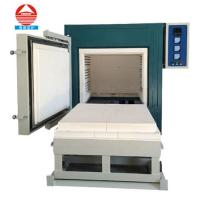 Buy cheap 1200C Electric high temperature heat treatment furnace car bottom furnace small ceramic kiln furnace from wholesalers