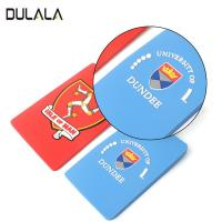 Buy cheap OEM Waterproof Custom 2D Name Logo Soft PVC Rubber Travel Luggage Tags with Plastic Buckle from wholesalers