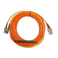 Buy cheap SC APC - SC APC Optical Fiber Network Patch Cord , Orange White Black product