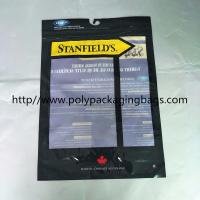 Buy cheap Custom Made Plastic Clothing Foil Ziplock Bags Self - Standing With Hook from wholesalers