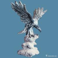 Buy cheap Black And White Marble Stone Carving Sculpture Eagle Statue Animal Figurines from wholesalers