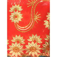 Buy cheap Fashion Sequin Nigerian Lace Fabrics Red For Garment Interlining from wholesalers