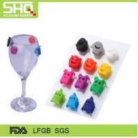 Buy cheap factory directly New Colorful wine bottle silicone glass labels from wholesalers