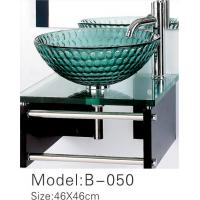 Buy cheap glass wash basin price B050 from wholesalers