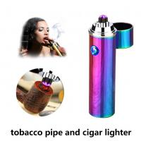 Buy cheap Pulsed Double Arc Electric Rechargeable Cigarette Lighter Gift Package For Men from wholesalers